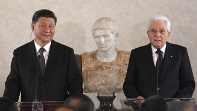 '이탈리아 방문 시진핑, 문화재 796점 돌려받는 성과 거둬'