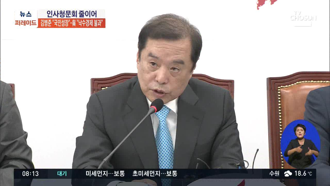 한국당 '국민성장' vs 민주당 '낙수효과론'…성장정책 공방