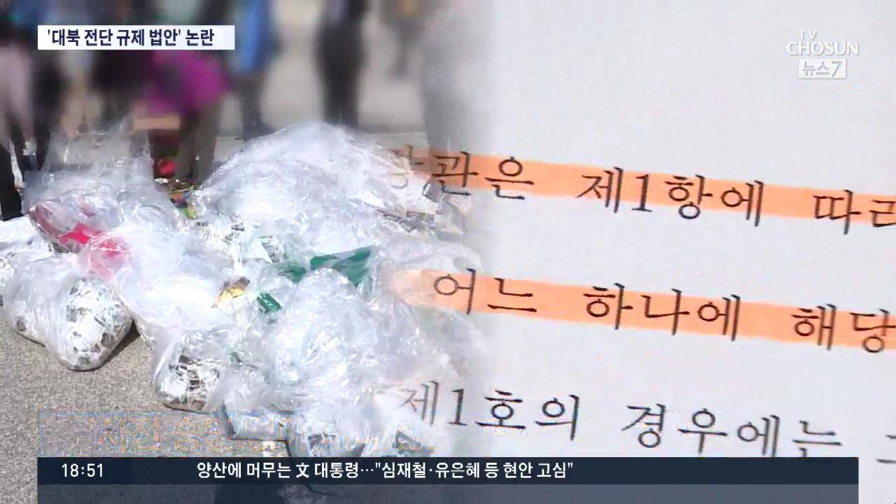 '대북 전단 살포 규제 법안' 논란…'편지 보내는 게 그렇게 두렵나'