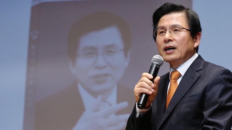 황교안, 한국당 전대 출마 가능성에 '여러 생각하고 있다'