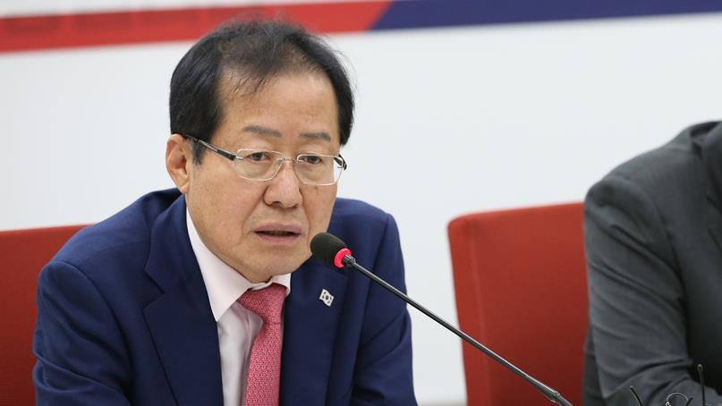 한국당 '홍준표 당권출마 시 제명은 사실무근'