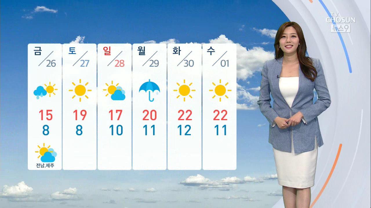 [날씨] 중부·경북·전북 봄비…그친 뒤 기온 '뚝'