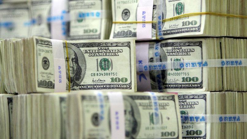 지난달 외환보유액 4040억달러…달러화 강세로 감소