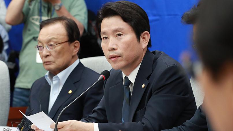이인영 '한국당, 황교안 실언·강효상 기밀유출 물타기 말라'