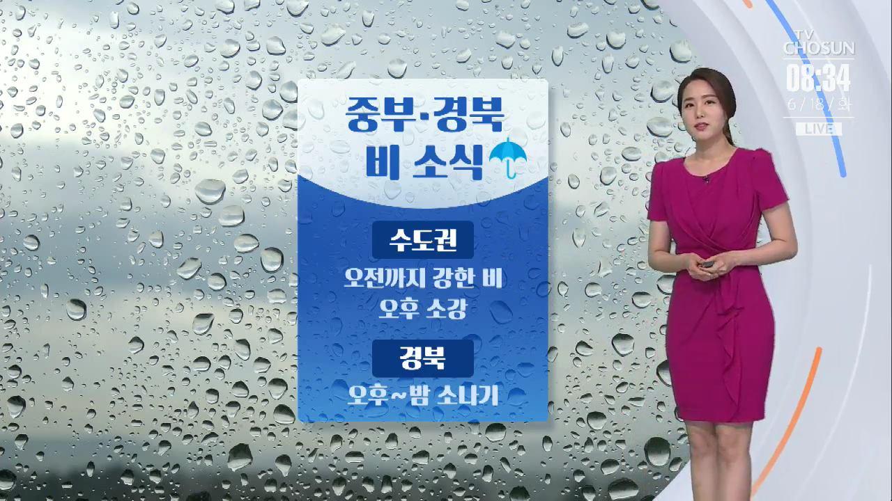 """[날씨] 중부·경북 소나기…""""우산 꼭 챙기세요"""""""
