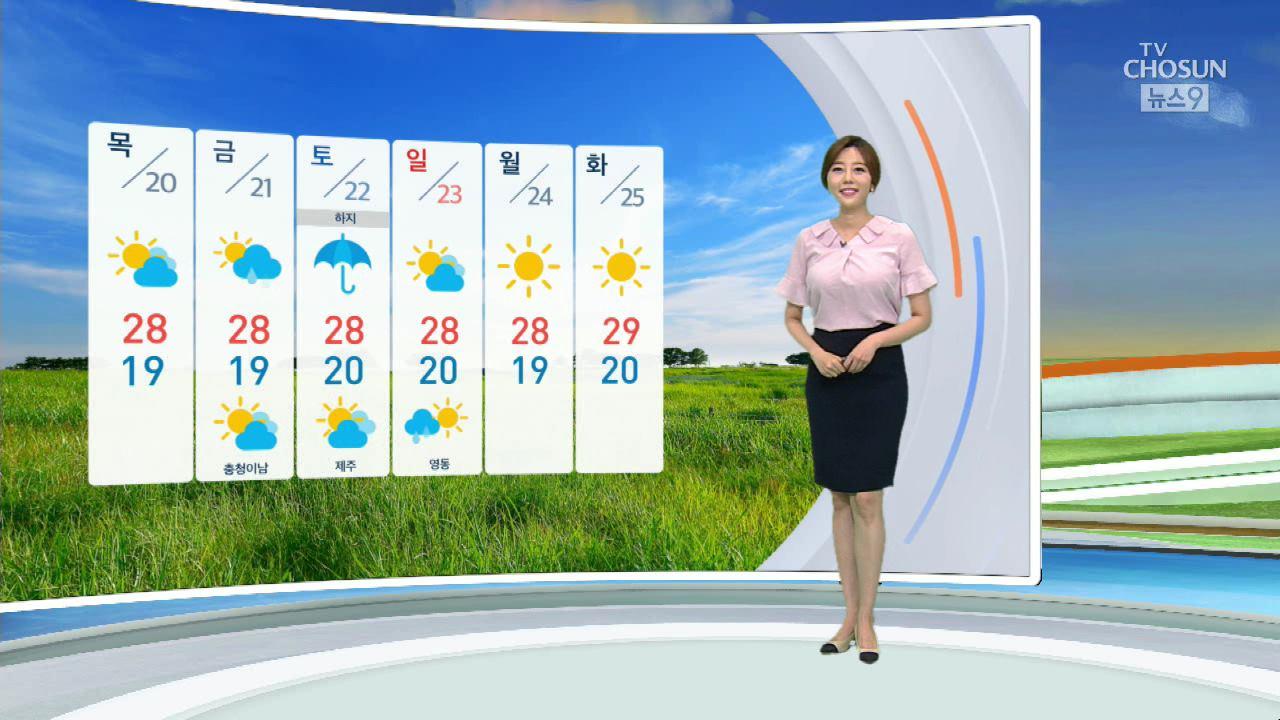 [날씨] 밤사이 경기·강원 뇌우…내일도 곳곳 소나기