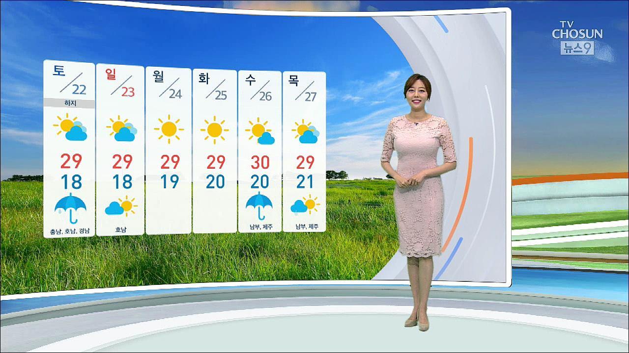 [날씨] 금요일 전국 곳곳 비…'우산 챙기세요'