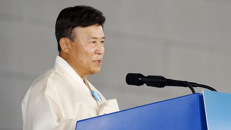 김원웅 광복회장 '일본의 경제보복은 친일정권 세우려는 의도'