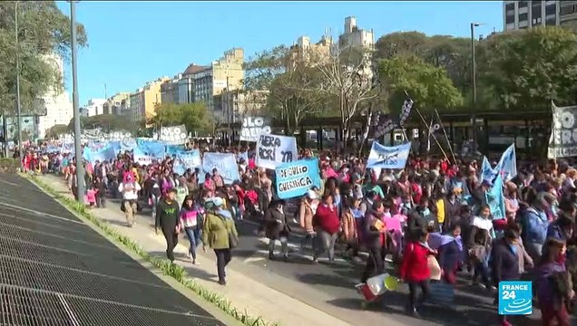 [France 24] Hundreds of Argentinians take to the street to call for economic relief