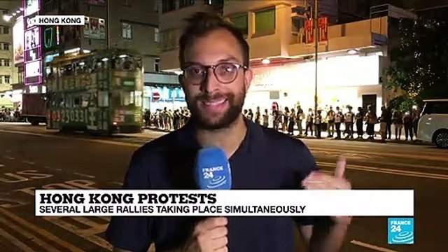[France 24] Hong Kong protesters form human chain across city