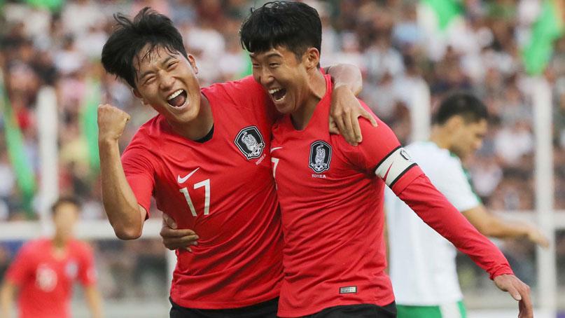 나상호 데뷔골…'월드컵 첫단추' 투르크멘에 2-0 승리
