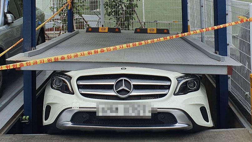 부산서 교회 기계식 주차장 운반기 추락해 1명 부상