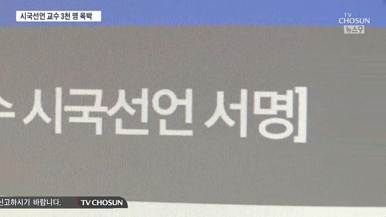 진보성향 대학생단체, 시국선언 교수들 '신..