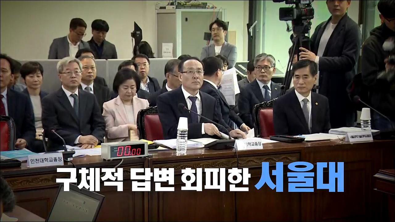 [영상뉴스] '조국 일가 논란 부담?' 구체적 답변 회피한 서울대