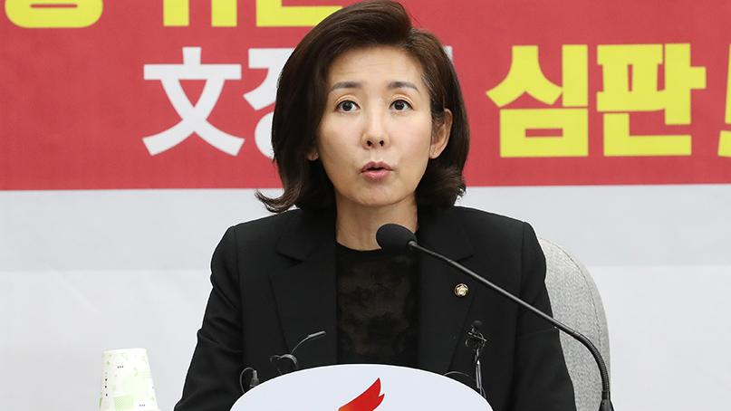 나경원 '靑안보실장, 北안보실장인가…정무수석도 만행'