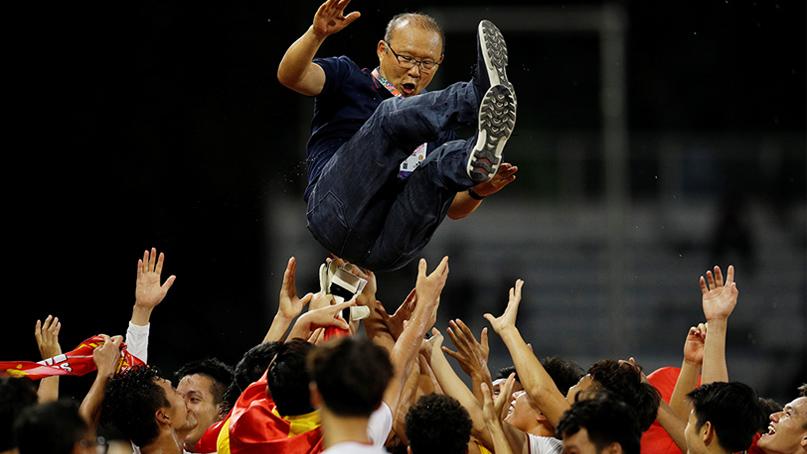 숙원 푼 '박항서 매직'…베트남 축구, 60년 만에 동남아시안게임 우승