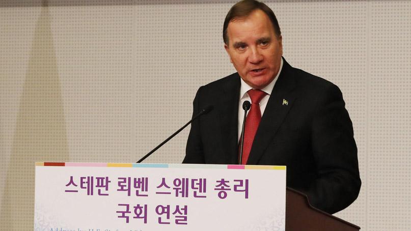 스웨덴 총리, 국회 연설 '한반도 평화 위한 대화 노력'