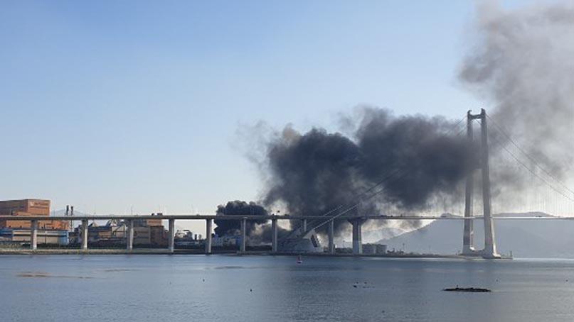 포스코 광양제철소 폭발 사고…5명 중경상