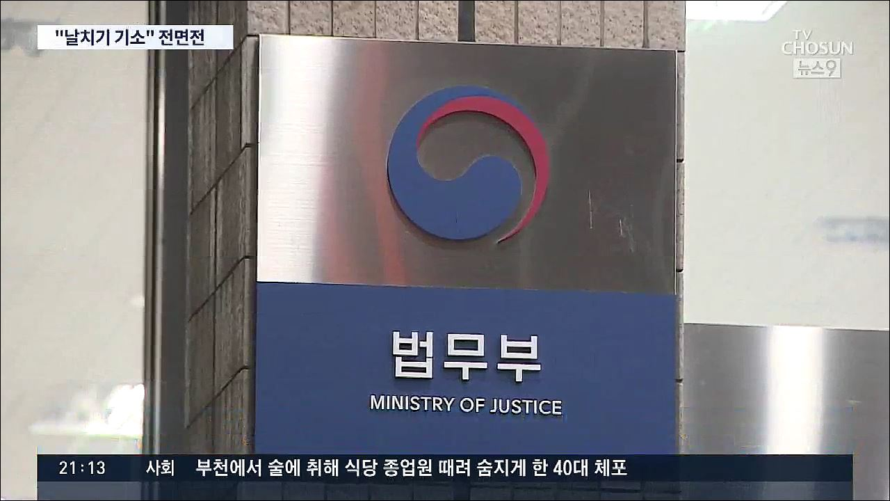 법무부 '날치기 기소'…최강욱 '검찰권 남용한 '기소 쿠데타''