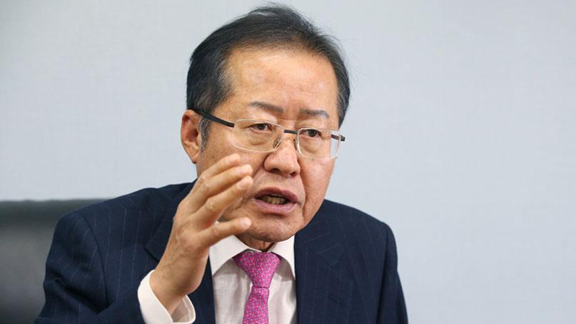 홍준표 '강북 출마 요구 거절'…'불출마' 썼다가 무소속으로 수정