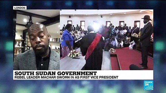 [France 24] South Sudan Government : rebel leader Machar sworn in as first vice-president