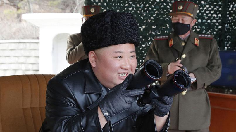北 '섬멸의 방사탄 발사…김정은 훈련 지도'