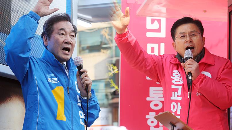 [결정 2020] '종로 잠룡들' 다른 행보…李 '전국 지원' 黃 '지역구 다걸기'