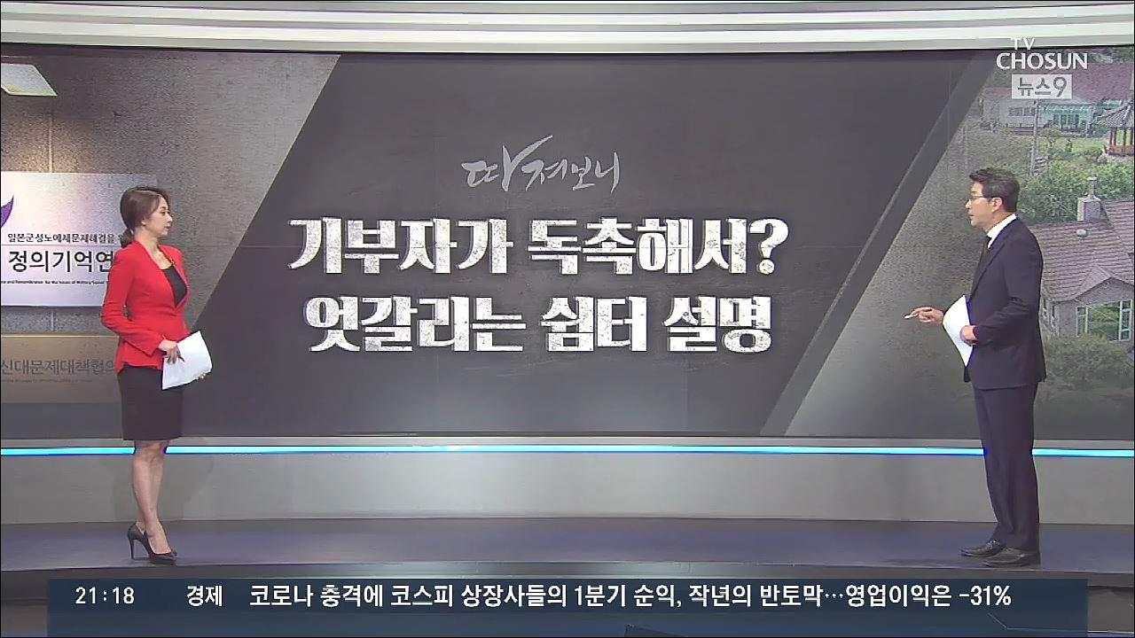 [따져보니] 윤미향-모금회 엇갈린 주장…'쉼터 논란' 증폭