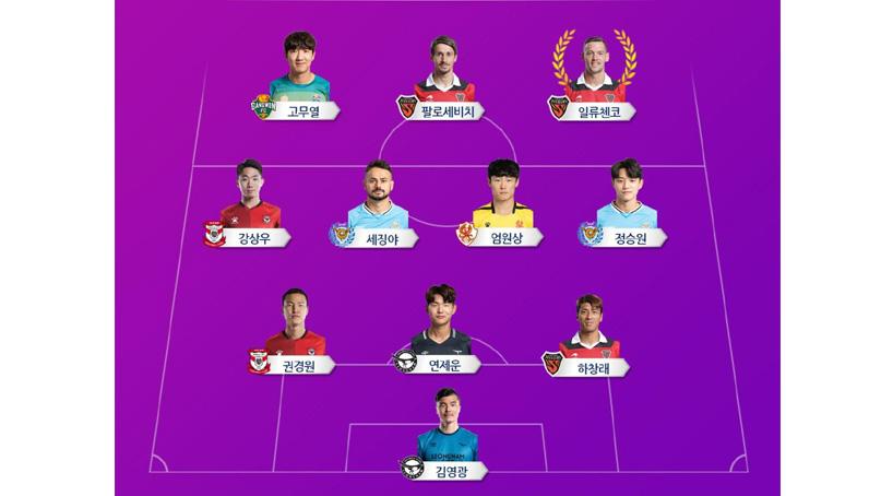 '인천전 1골1도움' 포항 일류첸코, K리그1 4라운드 MVP
