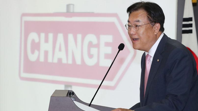 정진석 '민주당 힘 자랑 도가 지나쳐…내로남불·폭주기관차'