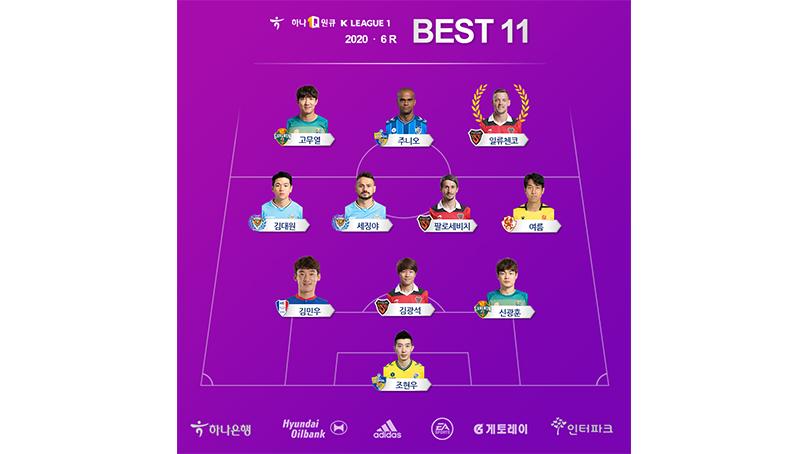 '상주전 2골 2도움' 일류첸코, K리그1 6라운드 MVP