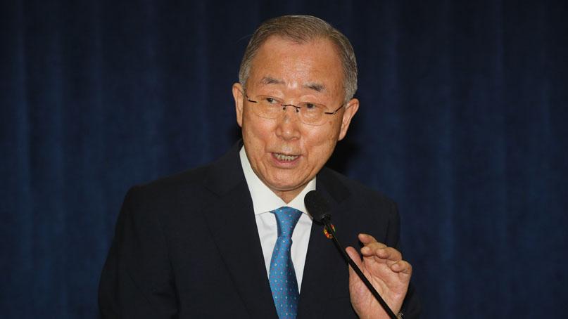 반기문 '우리가 기후악당…미세먼지 중국 영향 30%'