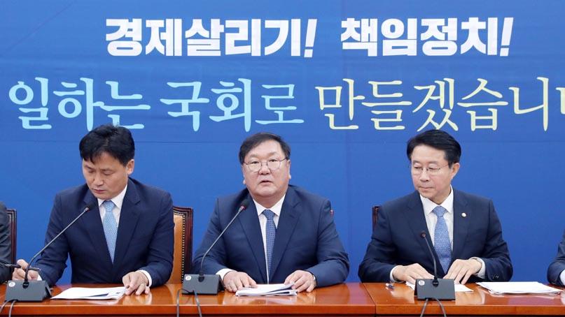 김태년 '종전선언 다시 추진…통합당의 아베 같은 태도 유감'