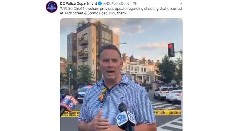 美 워싱턴DC서 대낮 총격 1명 사망·8명 부상…'표적 공격인 듯'