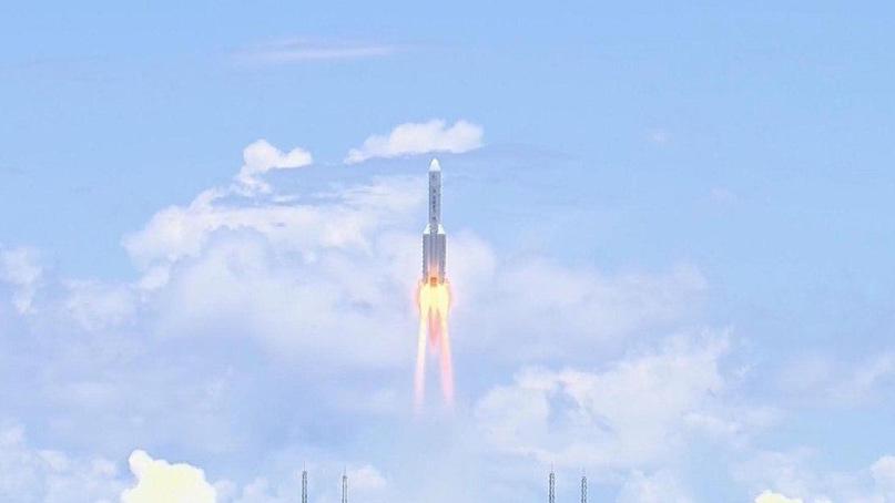 중국, 첫 화성탐사선 '톈원 1호' 발사…세계 3번째 화성착륙국 도전