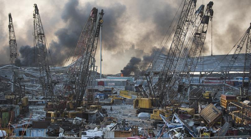 '레바논 폭발 항구 창고에 질산암모늄 2750톤 있었다'