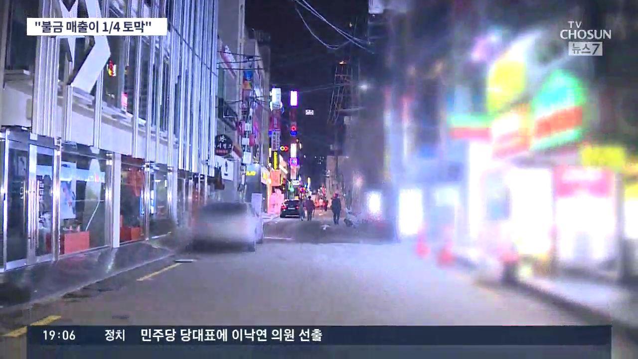 마지막 '불금' 없었다…매출 1/4 토막에 상인 '앞으로가 더 걱정'