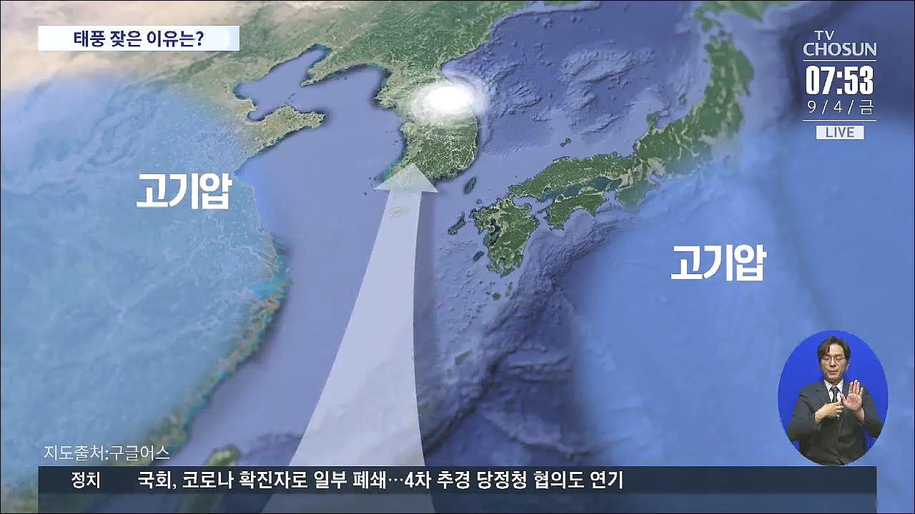 7일 '하이선' 또 온다…고기압 사이 낀 한반도 '태풍의 길'