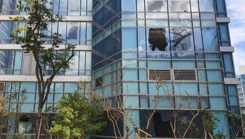 거세지는 비바람…폭풍반경에 놓인 부산 빌딩풍 '비상'