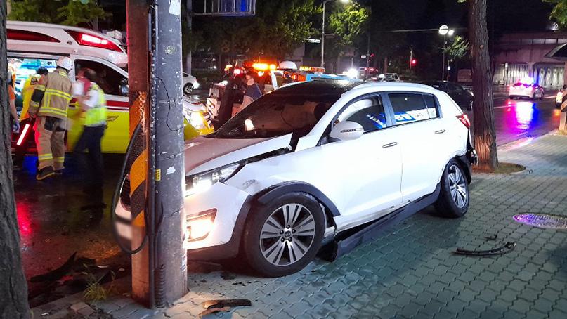 인천 교차로서 음주운전 3중 충돌…6명 부상