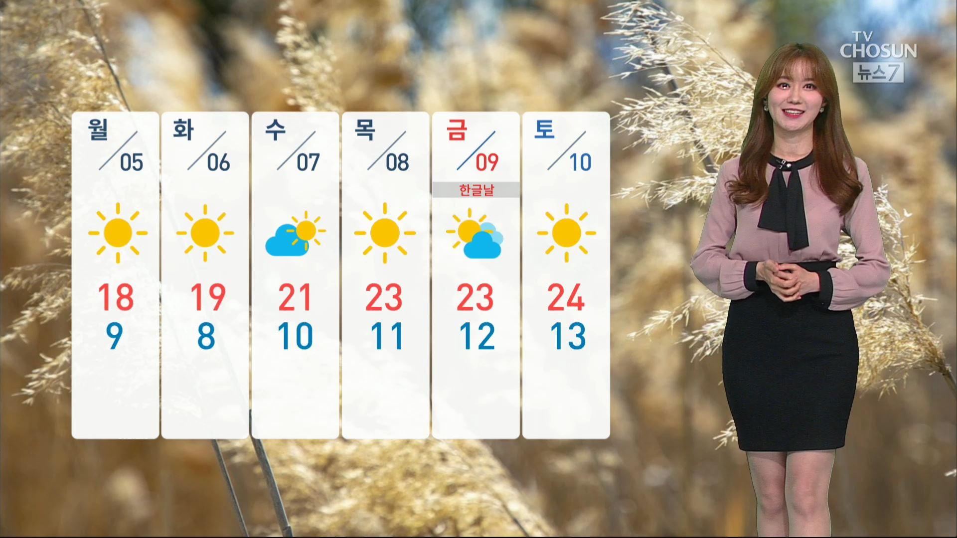 [날씨] 월요일 아침 올가을 들어 가장 쌀쌀해요