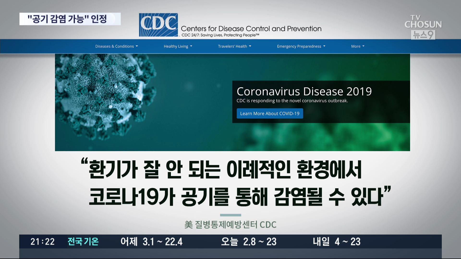 美 '제한적 상황서 공기감염 가능'…확진자 30% 뇌질환 증상