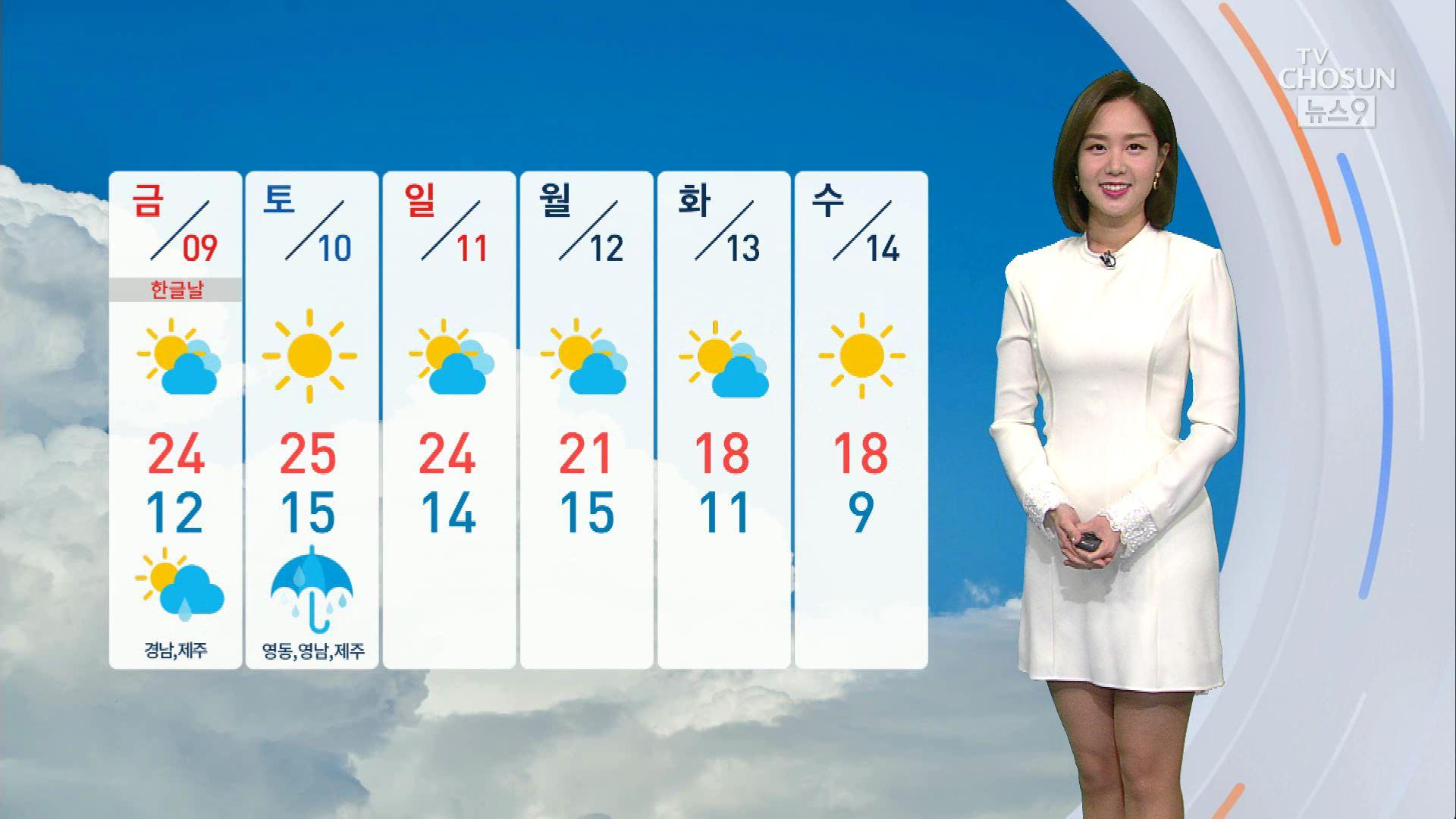[날씨] 8일 맑고 쾌청한 '한로'…해안가 강풍 주의
