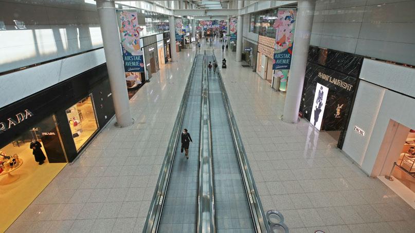 코로나에 인천국제공항 내 중소 면세점 매출 90% 가까이 급감