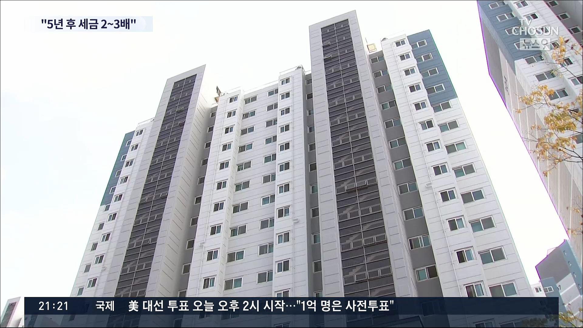 5년뒤 3배, '보유세 폭탄'…집값 급락땐 '과잉 세금' 역풍