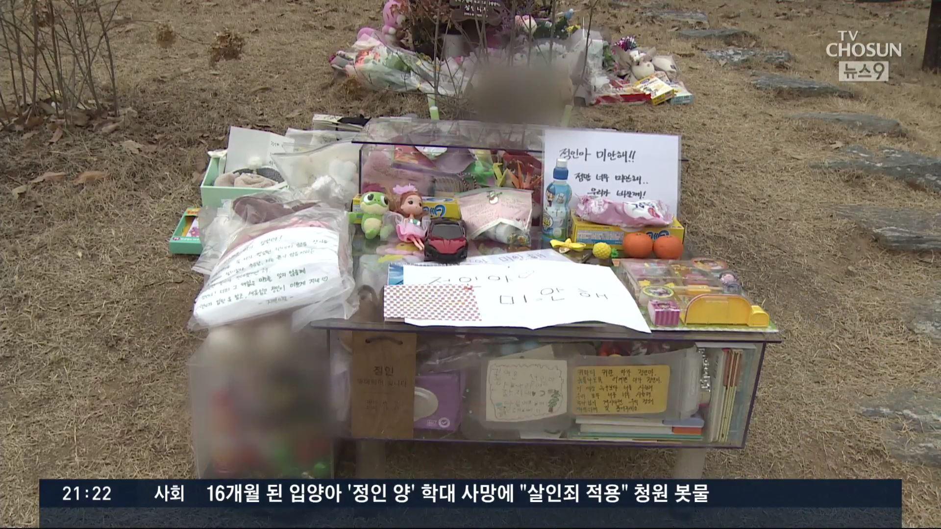 '학대 사망' 입양아 추모 열기에 '뒷북 입법'…경찰 징계 청원도