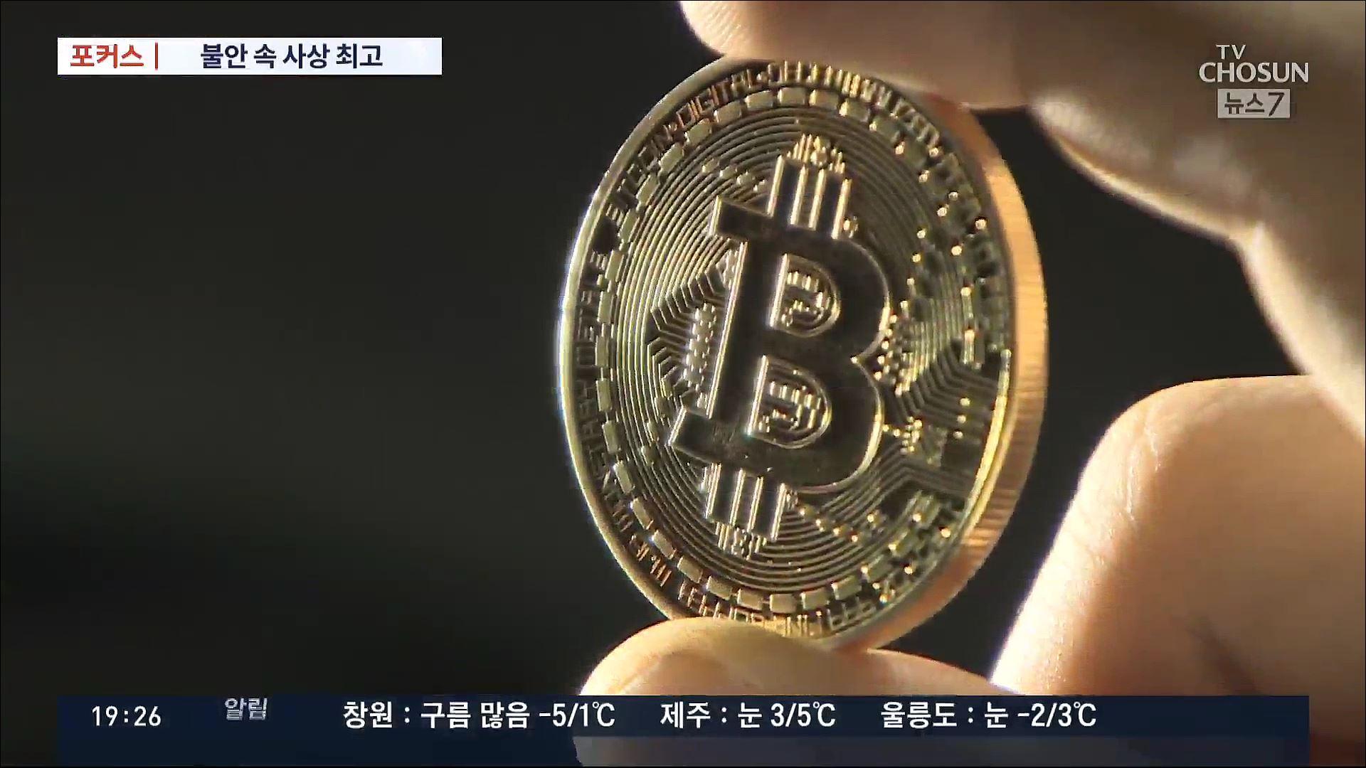 [포커스] 코스피·비트코인 사상 최고 '환호' 속 '거품 터질라'