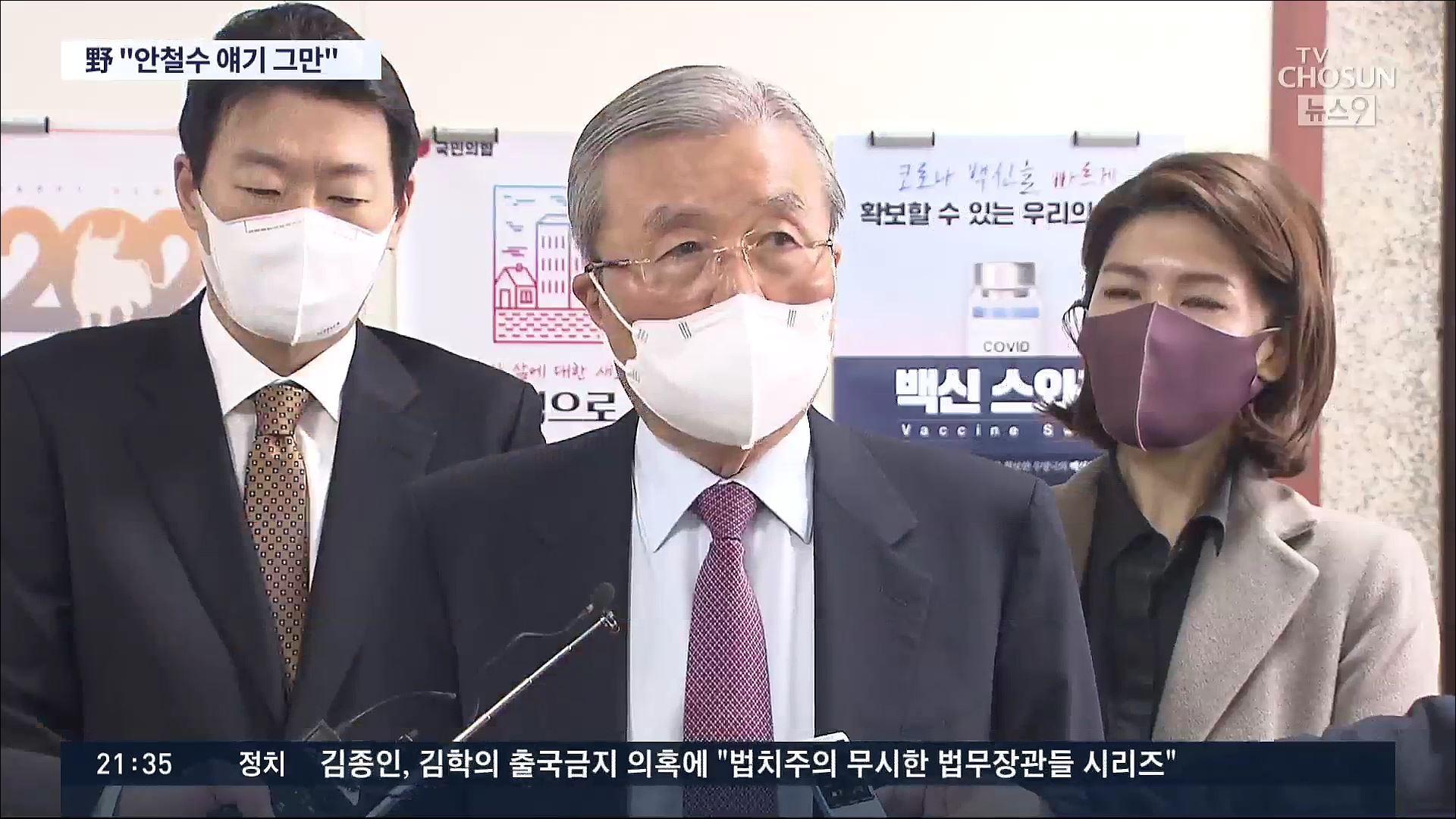 김종인 '安에 입당 안 하면 3월초 단일화 논의'…與선 '김동연 차출론'