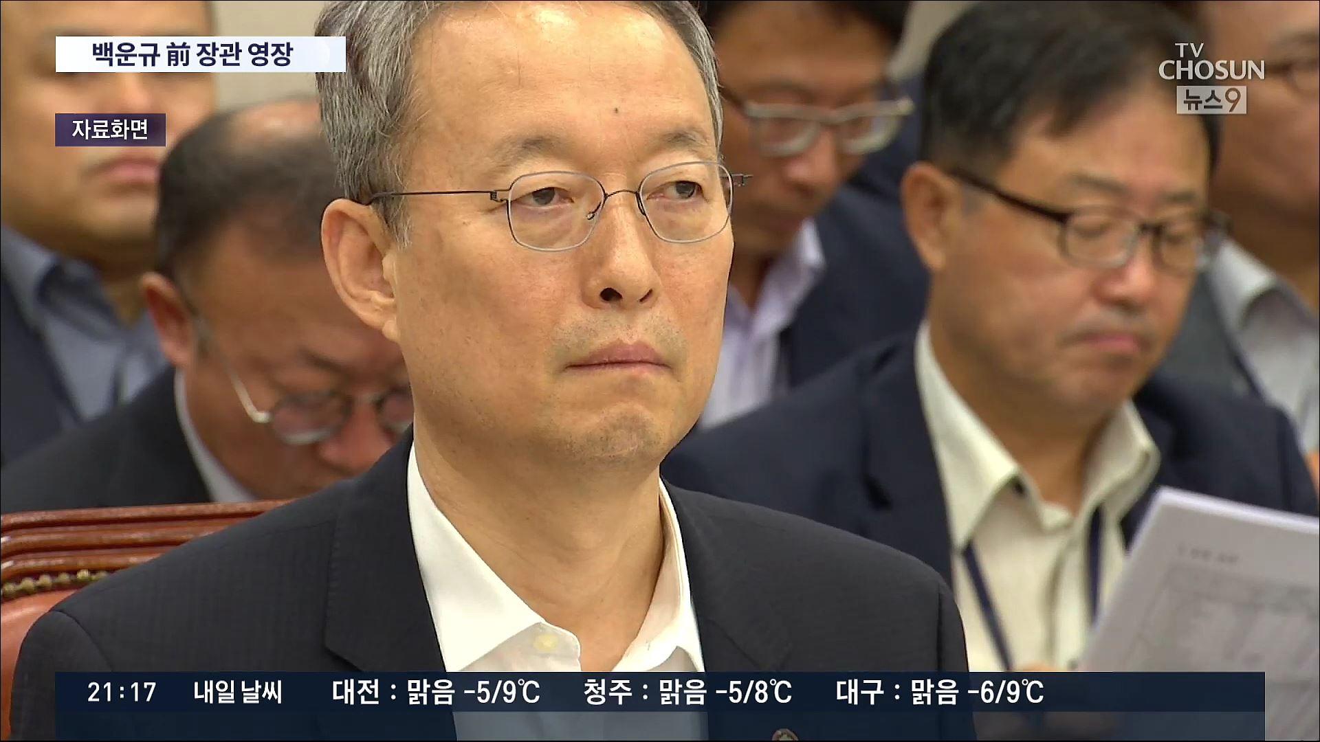檢, 백운규 구속영장 청구…월성원전 윗선 수사 본격화