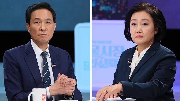 박영선 '禹 공약 상상하면 서울 질식'…우상호 '부자만 강변 조망권 누리냐'